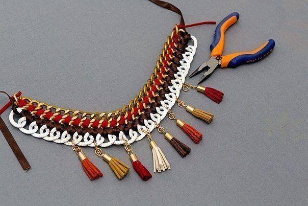 Ожерелье своими руками. Фото урок