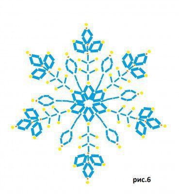 Снежинка из бисера. Пошаговый урок
