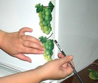 Декупаж старого холодильника. Фото урок